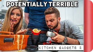 Download Reviewing Potentially TERRIBLE Kitchen Gadgets Ft. iJustine Video