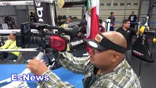 Download Mikey Garcia In Camp Can You Guess Who He's Fighting? EsNews Boxing Video