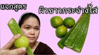Download แจกสูตร ผิวขาวกระจ่างใส LEMON and ALOE VERA CAN MAKE YOUR SKIN BRIGHT FRESH/DIY Face Scrub Video