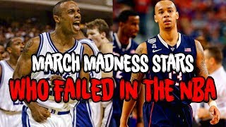 Download 4 MARCH MADNESS STARS Who Were NBA BUSTS! Video