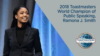 Download 2018 Toastmasters World Champion of Public Speaking, Ramona J. Smith Video