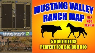 Download Farming Simulator 17 - Mustang Valley Ranch Map v1.0 ″Map Mod Review″ Video