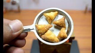 Download MINI FOOD - ONION SAMOSA I ASMR I INDIAN RECIPE I MDC Video