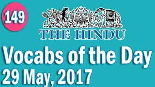 Download Daily The Hindu Vocabulary (29 May, 2017) - Learn 10 New Words with Tricks | Day-149 Video