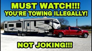 Download You're ILLEGALLY towing your Fifth Wheel and RVs! Must watch! Video