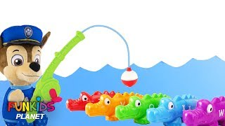 Download Learning Colors for Kids: Paw Patrol Chase & Marshall Goes Fishing For Rainbow Alligators Video