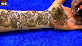 Download Learn Easiest Henna Mehndi Design | Step by Step Mehendi Designs for Hand | MehndiArtistica Video