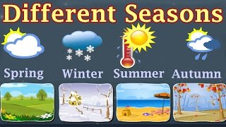 Download Weather, Different Seasons, Learn About Autumn, Winter, Spring, Summer, Preschool Activity Video