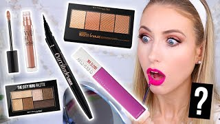 Download Testing NEW DRUGSTORE Maybelline MAKEUP Launches! || 5 First Impressions Video