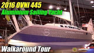 Download 2016 Ovni 445 Aluminium Sailing Yacht - Deck and Interior Walkaround - 2015 Salon Nautique de Paris Video