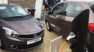 Download Tata Tiago Electric Revealed l Upcoming electric car in india Video