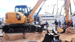 Download CATERPILLAR 308E EXCAVATOR TILTROTATOR DEMO SHOW CONEXPO LAS VEGAS Video
