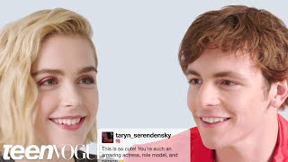 Download Kiernan Shipka and Ross Lynch Face-Off in a Compliment Battle | Teen Vogue Video