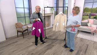 Download Denim & Co. Active French Terry Long-Sleeve Color-Block Top on QVC Video