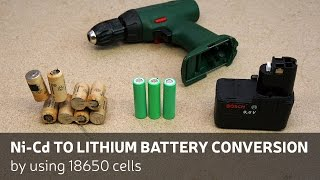 Download DIY: Ni-Cd To Lithium Battery Conversion By Using 18650 Cells Video
