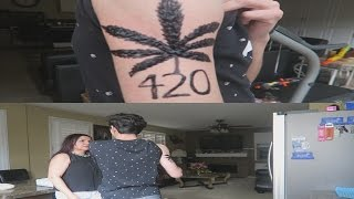 Download FAKE WEED TATTOO PRANK ON MY MOM!! Video