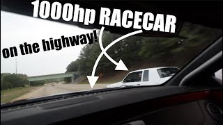 Download Driving my 1000hp RACECAR on the Highway!!!! Video