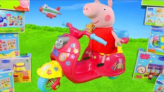 Download Peppa Pig Unboxing: Ride on Vehicles, Play Tent, George & Kitchen Toys Surprise for Kids Video