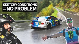 Download Ken Block Goes Flat Out in 6th Gear Through Fog And Rain in the Swiss Alps With Neil Cole! Video