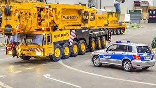 Download Incredible RC crane and equipment trucks convoy! Video