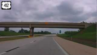 Download Eastbound US Highway 412, Tulsa OK to Siloam Springs, AR (Part 3) Video