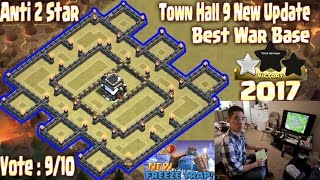 Download Th9 war base anti 2 star 2017. Town Hall 9 New Update Clash Of Clans Coc Video