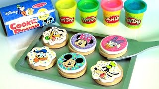 Download Bake Cookies with Play Doh Mickey Mouse Clubhouse Wooden Velcro Cookie Dough Baking Set Set for Kids Video