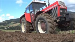 Download Zetor Crystal 120 45 a Massey Ferguson 7480 s pluhy PHX Video