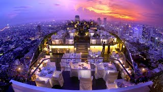 Download Banyan Tree Hotel Bangkok (Thailand): most AMAZING rooftop in the world Video