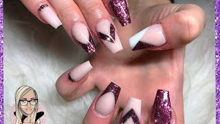 Download Colour block acrylic nails ~ autumn nails ~ glitter nails ~ glitterbels Video