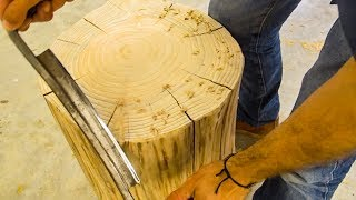 Download Making A Side Table From A Cypress Stump Video
