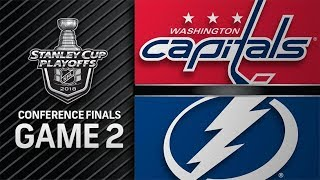 Download Washington Capitals vs Tampa Bay Lightning – May. 13, 2018 | Game 2 | Stanley Cup 2018. Обзор Video