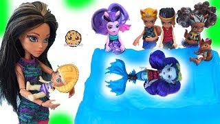 Download Brother + Sister + Baby Monster High Family Dolls + Slurping Slime Toys Video