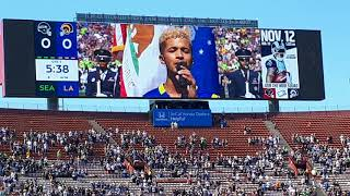 Download Rams vs Seahawks, anthem & jets over the stadium Video