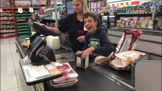 Download Cashier Makes Boy With Cerebral Palsy's Day When She Has Him Scan Groceries Video