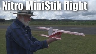 Download Nitro powered mini-stick RC plane, first flight Video
