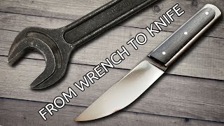 Download Making a Knife From An Old Wrench Video