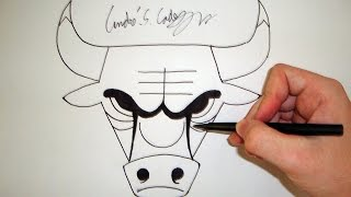 Download Como Desenhar a logo Chicago Bulls [NBA] - (How to Draw Chicago Bulls logo) - SLAY DESENHOS #46 Video