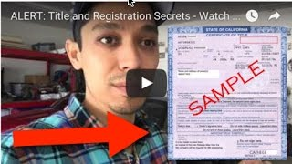 Download ALERT: Title and Registration Secrets - Watch This Video Before You Register Your Flipper Car Video