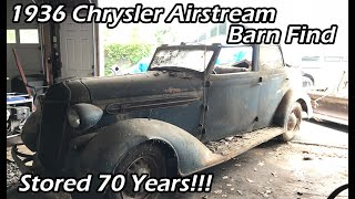 Download Barn Garage Find! RARE 1936 Chrysler Airstream C8 Convertible Sitting For 65 years! Video