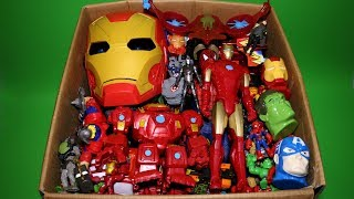 Download Box of Toys: Marvel Mashers, Cars, Iron Man & Spiderman Action Figures Video