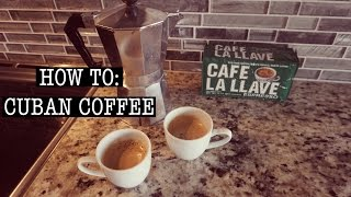 Download How to Make CUBAN COFFEE Video
