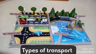 Download Types of transport school project made at home by Ravindra Kashyap Video