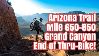 Download Arizona Trail Grand Canyon Bike Carry and End of Thru-Bikepacking. Flagstaff to Utah Ep 13 Pt. 1 Video