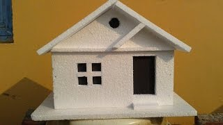 Download How to make a simple Thermocol Model House: Thermocol crafts Video
