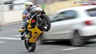 Download Bikers 75 - BMW HP4, Suzuki & Honda Wheelies and Burnouts, Kawasaki, Yamaha - Superbikes Sounds Video