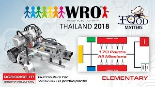 Download WRO 2018 Elementary 170 points. Roboriseit curriculums for coaches and teams. Video