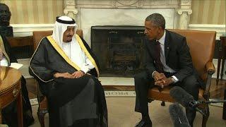 Download Obama et le roi d'Arabie Saoudite affichent leur entente Video