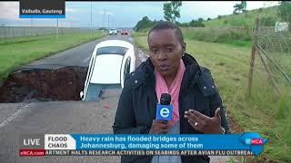 Download eNCA's Bongiwe Khumalo has the latest on floods damaging Gauteng infrastructure Video
