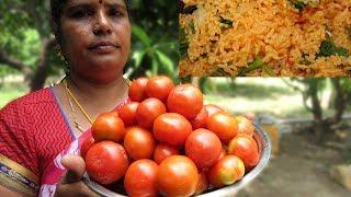 Download FARM FRESH TOMATO Dum Biryani Recipe | Prepared By My Mummy | VILLAGE FOOD Video